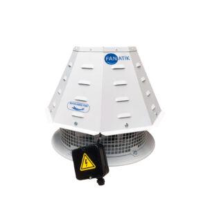 Dıştan Motorlu Çatı Tipi Yatay Atışlı Radyal Fan